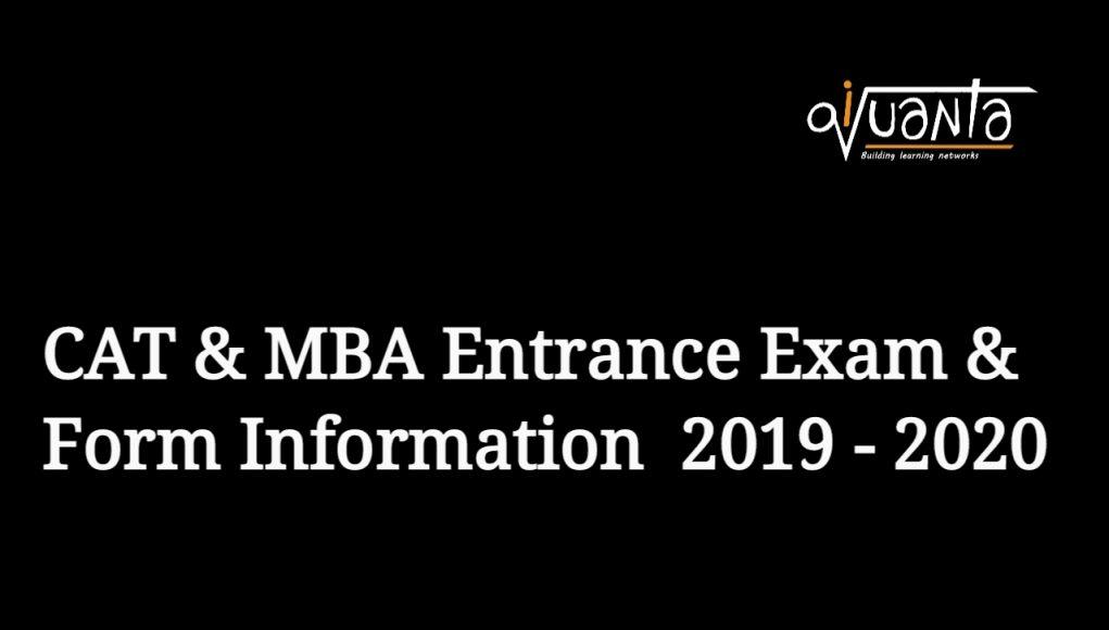 cat mba entrance exam form 2019