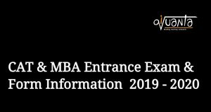 cat mba entrance exam form 2019