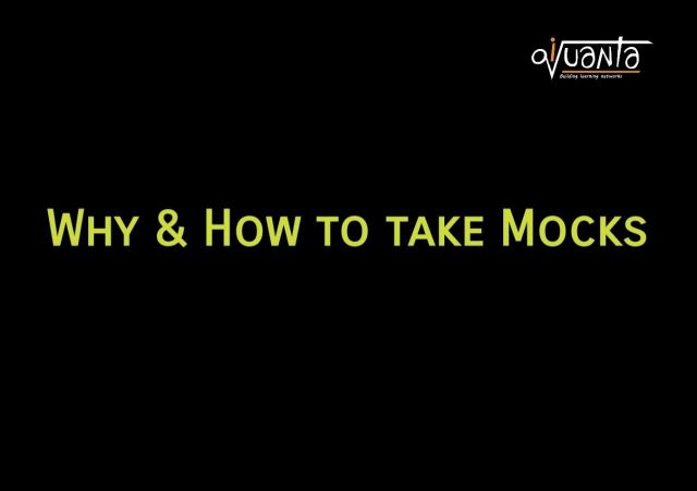 how to take mocks