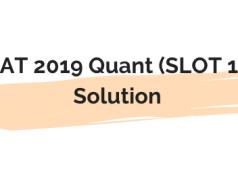 cat 2019 quant solutions